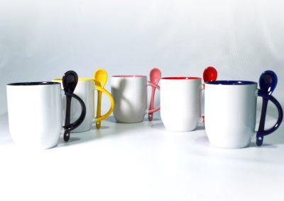 Tazas con Cuchara Colores